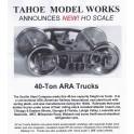 TMW215 - 40 TON ARA TRUCKS - SEMI SCALE WHEELSETS
