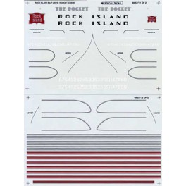 MICROSCALE DECAL 48-537 - ROCK ISLAND E & F UNIT LOCOMOTIVES