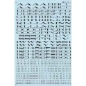 MICROSCALE DECAL 90062 - SOUTHERN PACIFIC EXTENDED ROMAN ALPHABET - BLACK