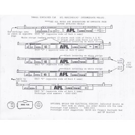 A-LINE DECAL 26700 - APL THRALL WELL CAR