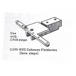 WALTHERS 941-200 - CABOOSE PLATFORMS - NYC