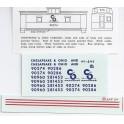 CHAMP DECAL HC-247 - CHESAPEAKE & OHIO CABOOSE