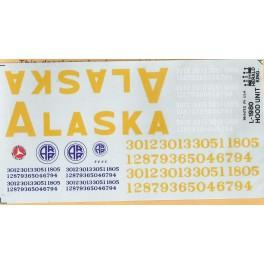HERALD KING DECAL L-1980 - ALASKA RAILROAD DIESEL LOCOMOTIVE