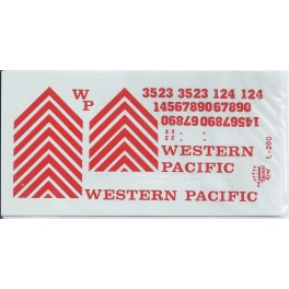 HERALD KING DECAL L-200 - WESTERN PACIFIC DIESEL LOCOMOTIVE