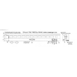 BLACK CAT DECAL - BC121-N - CANADIAN NATIONAL CAPE & FORT CLASS SLEEPER
