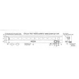 BLACK CAT DECAL - BC122-N - CANADIAN NATIONAL WEST, SOUTH & VAL CLASS SLEEPER - N SCALE