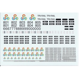 GARY BECK DECALS - BOMBARDIER BI-LEVEL COACHES - FLORIDA TRI-RAIL