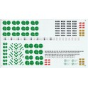 GARY BECK DECALS GB1 - BOMBARDIER BI-LEVEL COACHES - GO TRANSIT