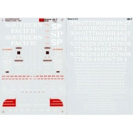 MICROSCALE DECAL 48-7 - SOUTHERN PACIFIC DIESEL LOCOMOTIVES