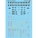 MICROSCALE DECAL 48-36 - DIESEL LOCOMOTIVE DATA - RED & YELLOW
