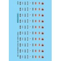 MICROSCALE DECAL 48-154 - DIESEL LOCOMOTIVE GE & EMD BUILDER PLATES
