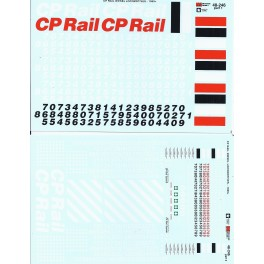 MICROSCALE DECAL 48-246 - CANADIAN PACIFIC DIESEL LOCOMOTIVE