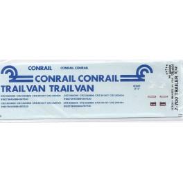 HERALD KING DECAL Z-700 - CONRAIL TRAILVAN TRAILER