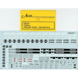 A-LINE DECAL 26701 - TRAILER TRAIN THRALL WELL CAR