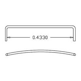 CAL-SCALE 190-505 - E/F/FT DIESEL LOCOMOTIVE WINDOW ROOF GRAB IRONS