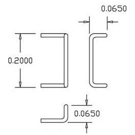 "CAL-SCALE 190-509 - 17"" DROP GRAB IRONS"