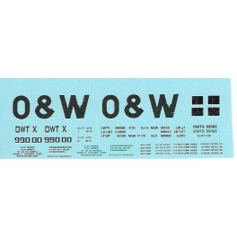 DANS RESIN CASTING DECALS - ONEIDA & WESTERN BATHTUB COAL GONDOLA - OWTX 99000