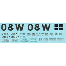 DANS RESIN CASTING DECALS - ONEIDA & WESTERN BATHTUB COAL GONDOLA - OWTX 99007