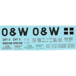 DANS RESIN CASTING DECALS - ONEIDA & WESTERN BATHTUB COAL GONDOLA - OWTX 99008
