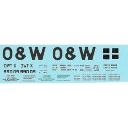 DANS RESIN CASTING DECALS - ONEIDA & WESTERN BATHTUB COAL GONDOLA - OWTX 99009