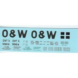 DANS RESIN CASTING DECALS - ONEIDA & WESTERN BATHTUB COAL GONDOLA - OWTX 99011