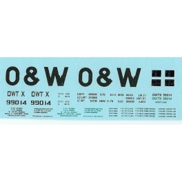 DANS RESIN CASTING DECALS - ONEIDA & WESTERN BATHTUB COAL GONDOLA - OWTX 99014