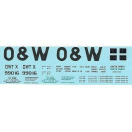 DANS RESIN CASTING DECALS - ONEIDA & WESTERN BATHTUB COAL GONDOLA - OWTX 99016