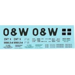 DANS RESIN CASTING DECALS - ONEIDA & WESTERN BATHTUB COAL GONDOLA - OWTX 99024