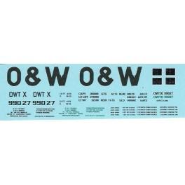 DANS RESIN CASTING DECALS - ONEIDA & WESTERN BATHTUB COAL GONDOLA - OWTX 99027