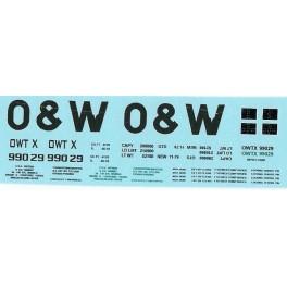 DANS RESIN CASTING DECALS - ONEIDA & WESTERN BATHTUB COAL GONDOLA - OWTX 99029