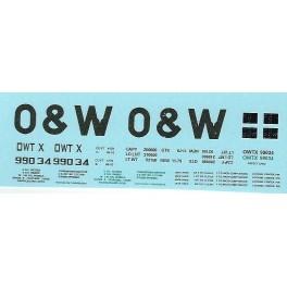 DANS RESIN CASTING DECALS - ONEIDA & WESTERN BATHTUB COAL GONDOLA - OWTX 99034