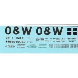 DANS RESIN CASTING DECALS - ONEIDA & WESTERN BATHTUB COAL GONDOLA - OWTX 99050