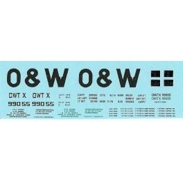 DANS RESIN CASTING DECALS - ONEIDA & WESTERN BATHTUB COAL GONDOLA - OWTX 99055