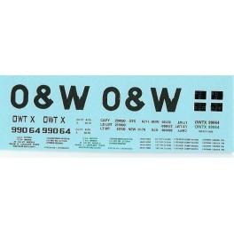 DANS RESIN CASTING DECALS - ONEIDA & WESTERN BATHTUB COAL GONDOLA - OWTX 99064
