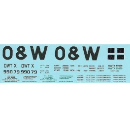 DANS RESIN CASTING DECALS - ONEIDA & WESTERN BATHTUB COAL GONDOLA - OWTX 99079