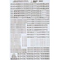 MICROSCALE DECAL 70252 - ALPHABET STENCIL RAILROAD GOTHIC BLACK