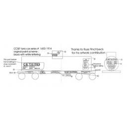 BLACK CAT DECAL - BC057-S - CANADIAN GENERAL TRANSIT  TANK CAR