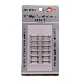 "INTERMOUNTAIN 60070 - N SCALE 33"" HIGH DETAIL WHEELSETS"