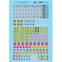 MICROSCALE DECAL 87-1516 - STREET, WIDE LOAD & OVERSIZE TRUCK SIGNS