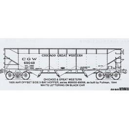 KOMAR HO-240 - CHICAGO GREAT WESTERN 3 BAY HOPPER