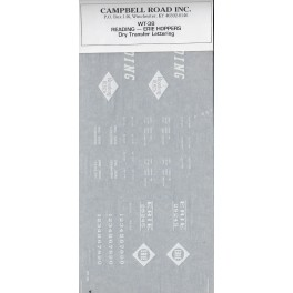 CAMPBELL ROAD DRY TRANSFER WT-38 - READING / ERIE HOPPERS