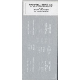 CAMPBELL ROAD DRY TRANSFER WT-42 - DETROIT & MACKINAC