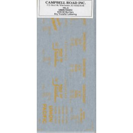 CAMPBELL ROAD DRY TRANSFER YEL-3 - UNION PACIFIC B-50-32 BOXCARS