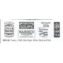 CLOVER HOUSE 9901-06 - FOOD PRODUCTS SIGNS