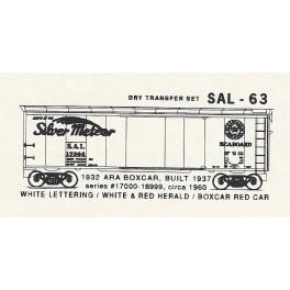 KOMAR HO-63 - SEABOARD AIR LINE 1932 ARA 40' BOXCAR
