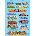 MICROSCALE DECAL 60-1533 - CONTEMPORARY GRAFFITI #1