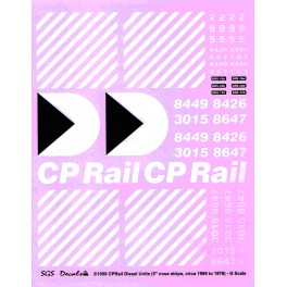 SGS - CPRAIL DIESEL LOCOMOTIVE DECAL