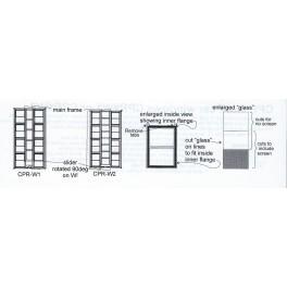 BLACK CAT BC280 - CPRAIL / CANADIAN PACIFIC WORK CAR WINDOWS - VERSION 1