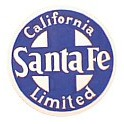 TOMAR H-100 - SANTA FE CALIFORNIA LIMITED HEAVYWEIGHT TAILSIGN - HO SCALE