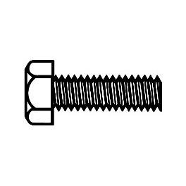 WALTHERS 947-1153 - BRASS MACHINE SCREW - 2-56 X 1/4 HEX HEAD
